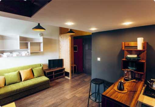 Двухкомнатный Suite (3+3) отель Powder